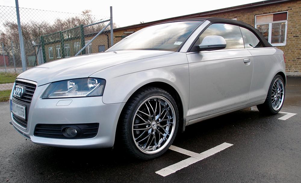 Silvrig Audi A3 med Rad Tech 185 Hyper