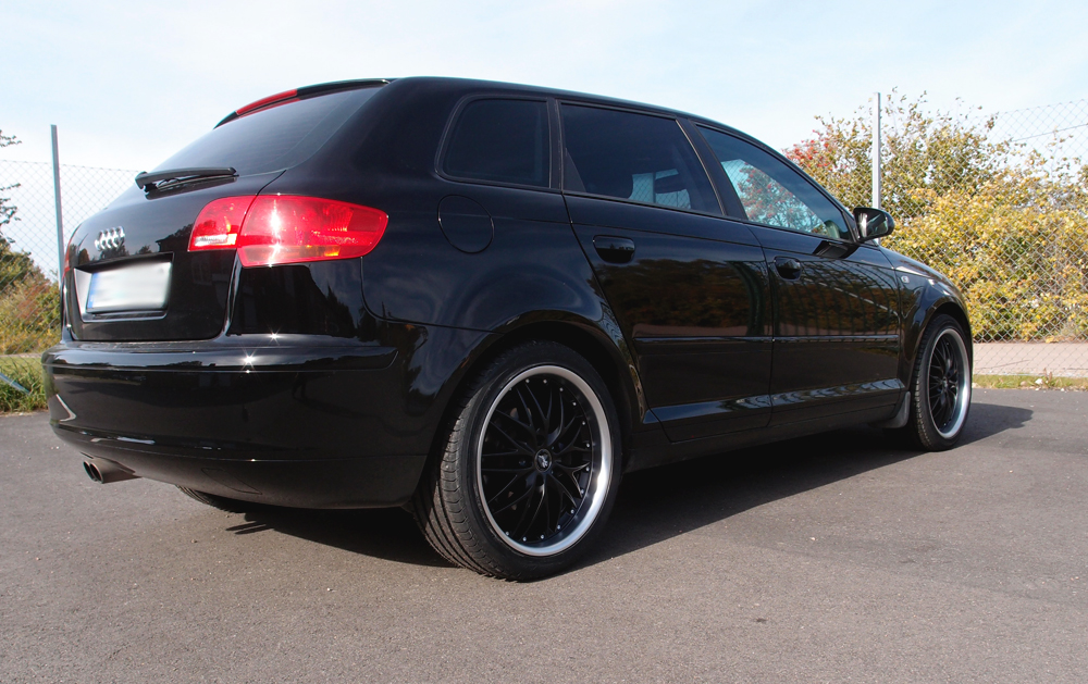 Rad Tech 185 Matt Black på en Audi A3